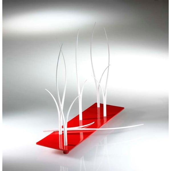 Červená sada podnosu a paličiek na jednohubky Entity