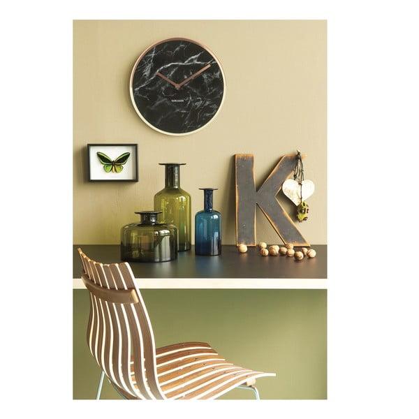 Nástenné hodiny s ručičkami v medenej farbe Karlsson Marble Delight