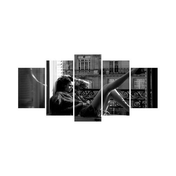 Viacdielny obraz Black&White no. 9, 100x50 cm