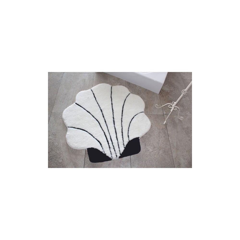 Kúpeľňová predložka Shell Ecru, Ø 90 cm