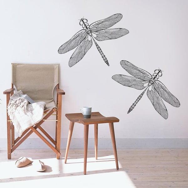 Dekoratívna samolepka na stenu Dve vážky