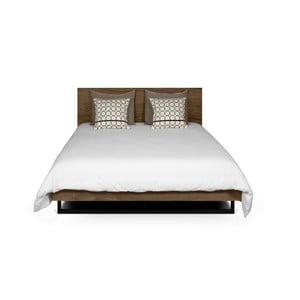 Hnedá posteľ s nohami z ocele TemaHome Mara, 160 × 200 cm