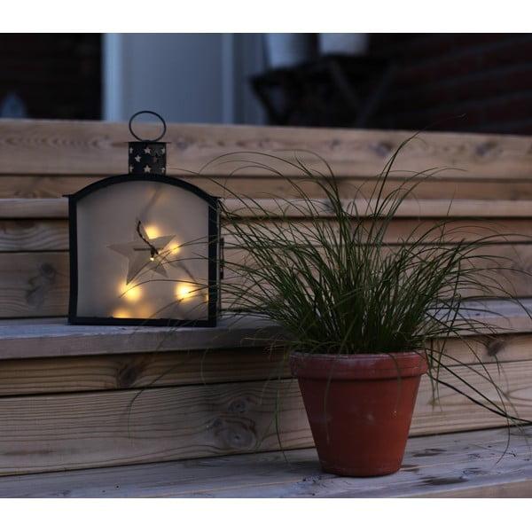 LED lampáš Staris 25 cm, čierny