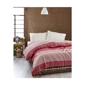 Ľahká prikrývka cez posteľ Hereke Red, 200x235 cm