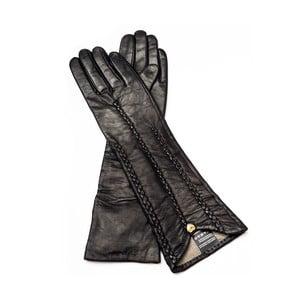 Dámske čierne kožené rukavice Pride & Dignity New York, veľ. 8