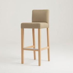 Béžová barová stolička s prírodnými nohami Custom Form Wilton