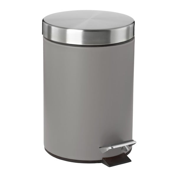 Sivý pedálový odpadkový kôš Zone Confetti, 3 l