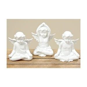 Sada 3 dekorácií Yoga Angel