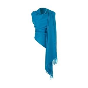 Modrá kašmírová šatka Hogarth, 190×70 cm
