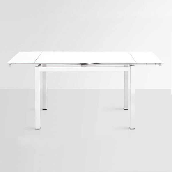Rozkladací jedálenský stôl Queen, 110-170 cm, biely