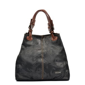 Čierna kožená kabelka Luisa Vannino Marcelle