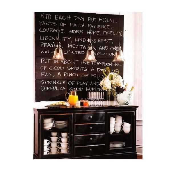 Univerzálna tabuľová samolepka Blackboard + 5 kried, 45x200 cm