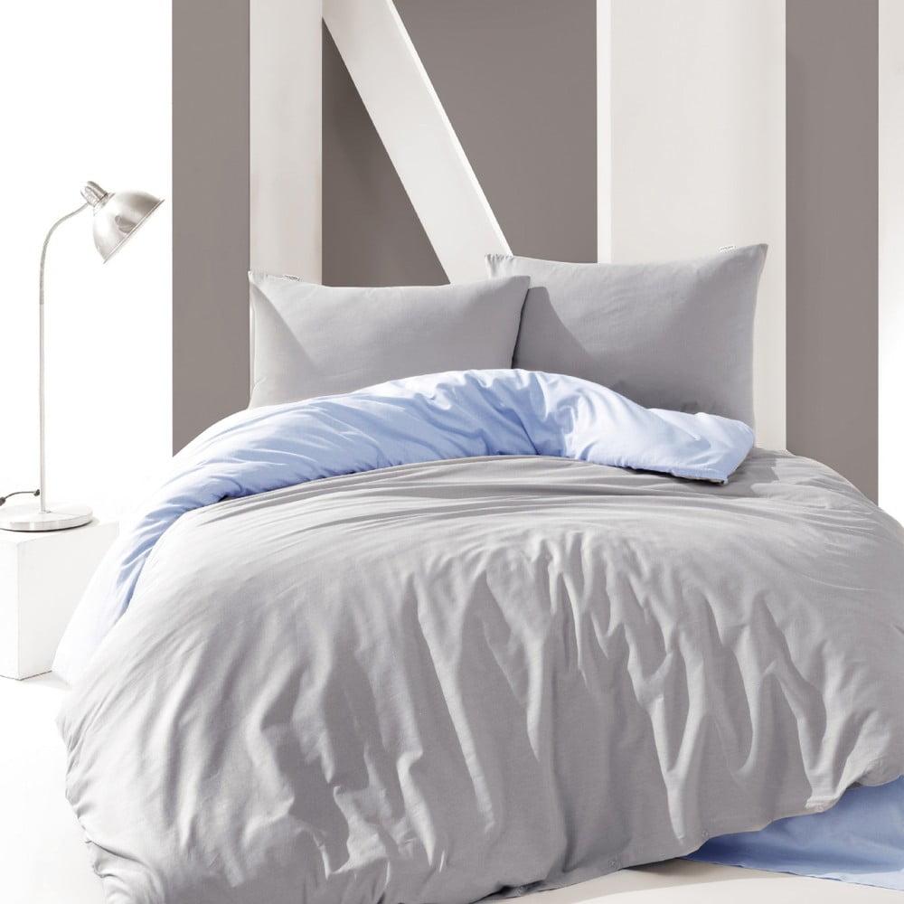 Bavlnené obliečky na jednolôžko Suzy Grey, 160 × 220 cm