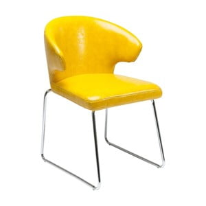 Žltá jedálenská stolička Kare Design Atomic