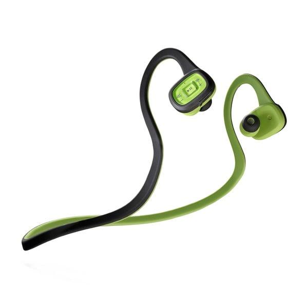 Čierno-zelené športové bezdrôtové In-ear slúchadlá CellularLine SCORPION, Bluetooth