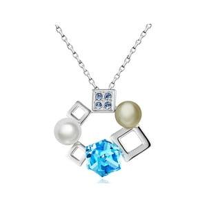 Náhrdelník s modrými krištáľmi Swarovski Elements Crystals Cubes