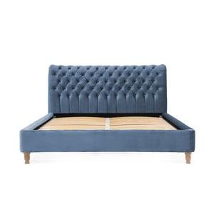 Blankytnemodrá posteľ z bukového dreva Vivonita Allon, 180 × 200 cm