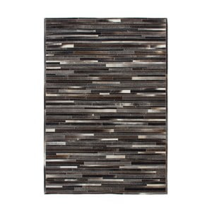Kožený koberec Eclipse Grey Brown, 120x170 cm