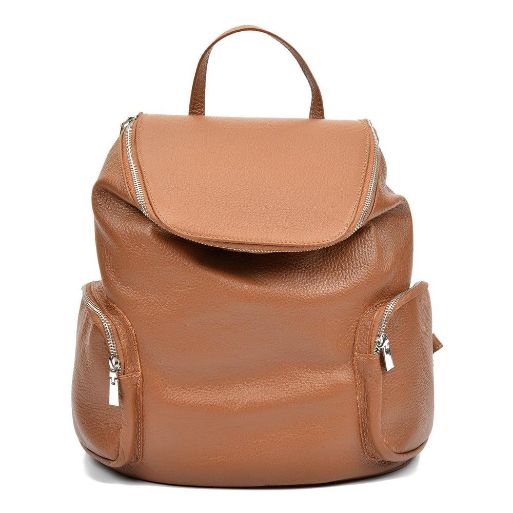Hnedý kožený batoh Luisa Vannini Gemma