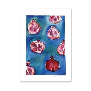Plagát Pattern Pomegranate, 30x42 cm