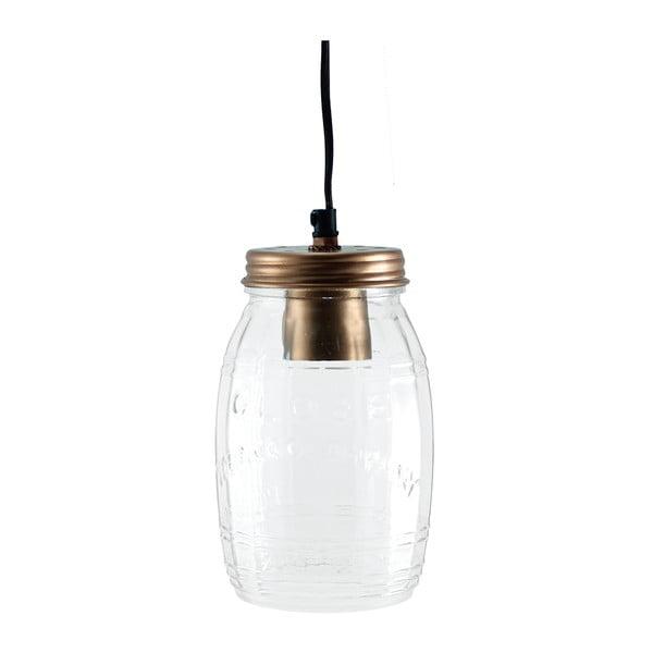 Stropné svetlo Glass Jar Copper