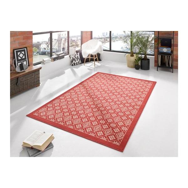 Červený koberec Hanse Home Gloria Tile, 80 x 300 cm