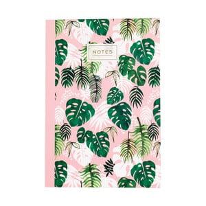 Zošit Rex London Tropical Palm, veľkosť A5