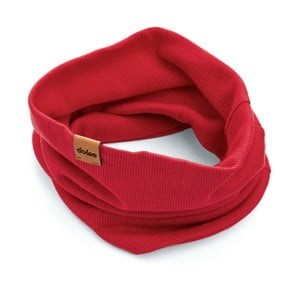 Červený úpletový nákrčník DOKE