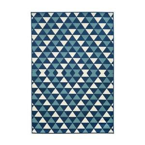 Modrý koberec Nourison Baja Huocho, 290×201cm