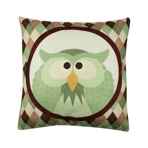 Vankúš Owl No. 1, 43x43 cm