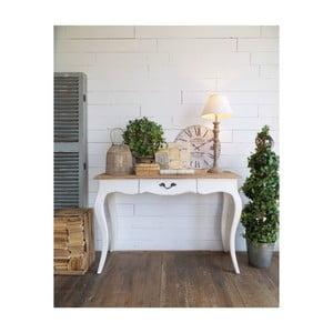 Hnedo-biely konzolový stolík Orchidea Milano New Vintage