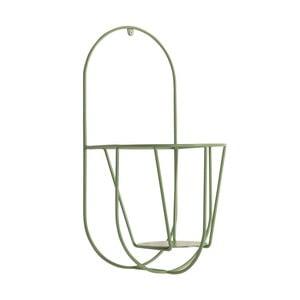Zelený nástenný držiak na kvetináče OK Design, výška 40 cm
