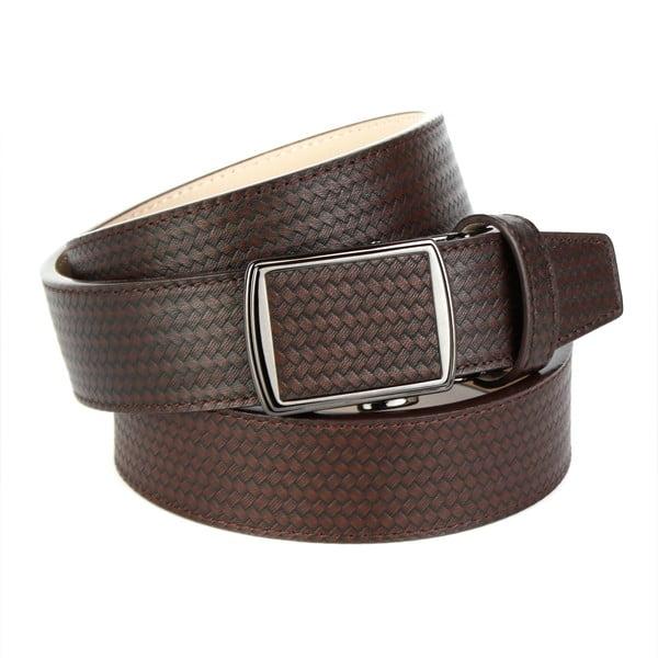Pánský kožený pásek 33CF40 Brown, 110 cm