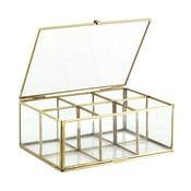 Sklenený box Six Brass