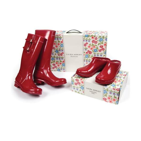 Gumové topánky Caravan Daisy Red, veľ. 38