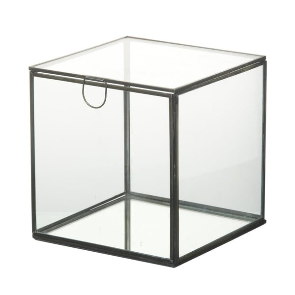 Sklenený úložný box Parlane Glass, 18 cm
