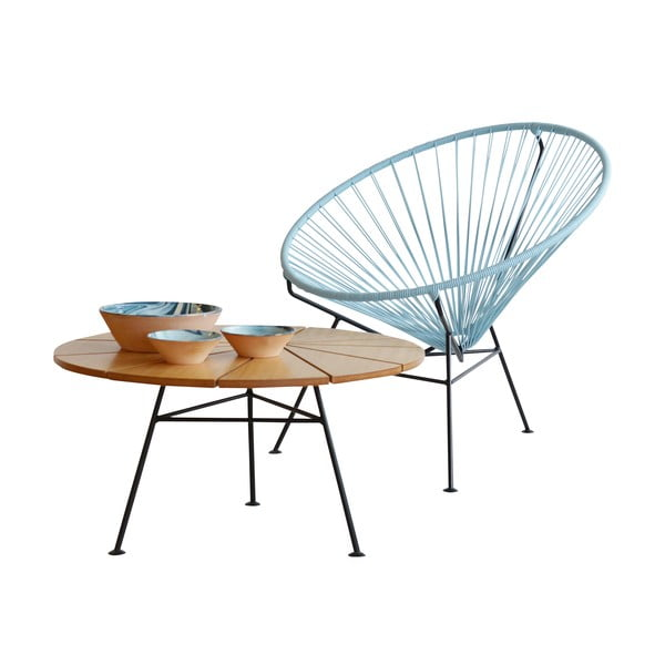 Konferenčný stolík Bam Bam, prírodný, priemer 70 cm
