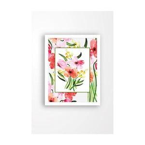 Nástenný obraz na plátne v bielom ráme Tablo Center My Garden, 29 × 24 cm