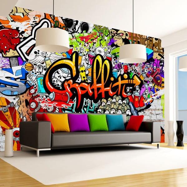 Veľkoformátová tapeta Artgeist Colourful Graffiti, 400×280 cm