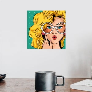Nástenný samolepiaci obraz North Carolina Scandinavian Home Decors Girl V7, 30×30 cm