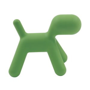 Zelená detská stolička v tvare psa Magis Puppy, výška 34,5 cm