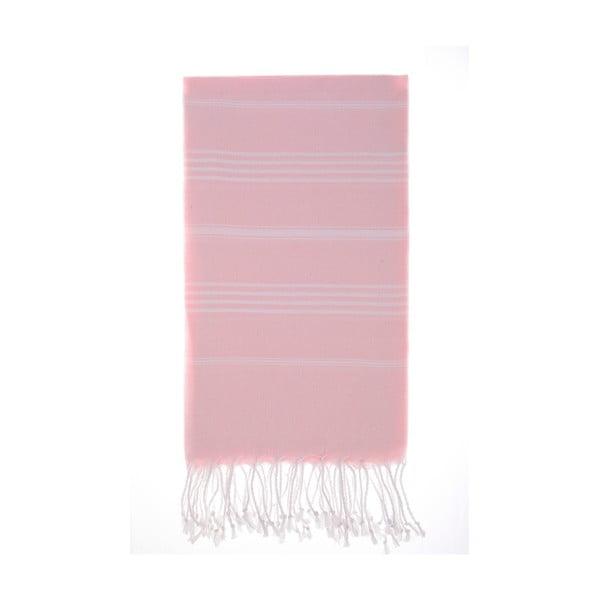 Hamam osuška Cesme Pink, 100x180 cm