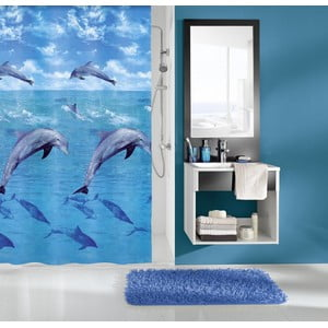 Sprchový záves Delfin Blue, 180x200 cm
