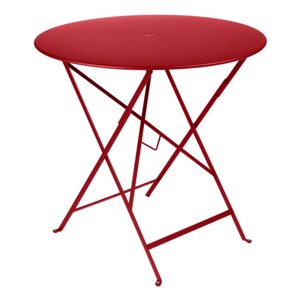 Červený záhradný stolík Fermob Bistro, Ø 77 cm