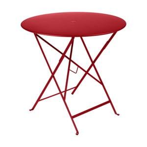 Červený záhradný stolík Fermob Bistro, Ø77 cm