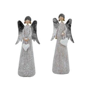 Sada 2 dekoratívnych vianočných sošiek Ego Dekor Angels with Hats