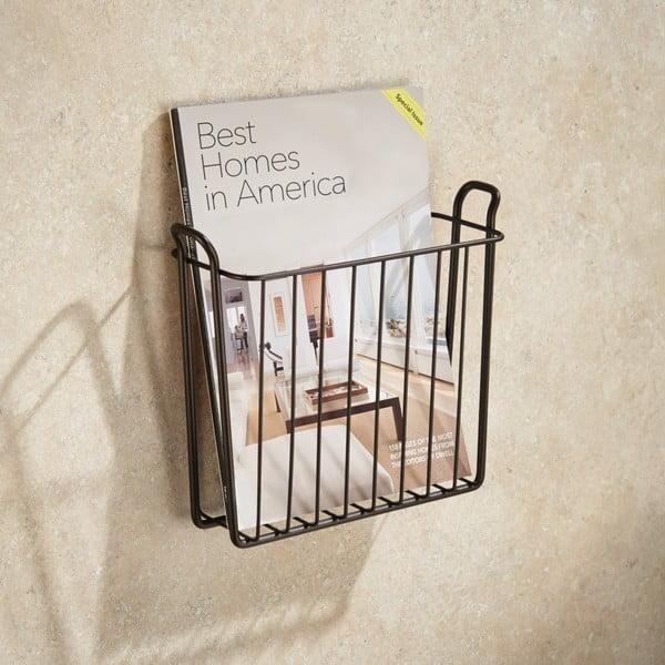 Čierny stojan na časopisy InterDesign Classico