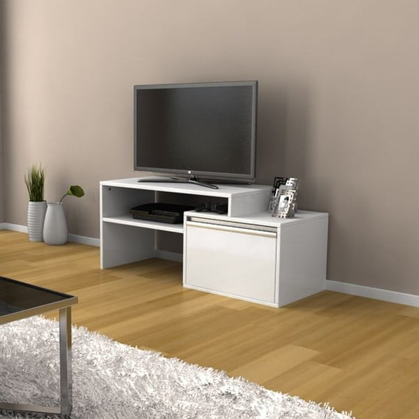 Televízny stolík Torino White