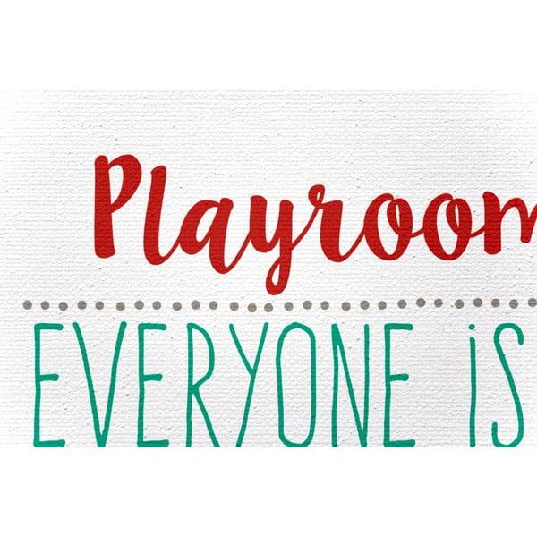 Obraz na plátne Playroom Rules, 40x60 cm