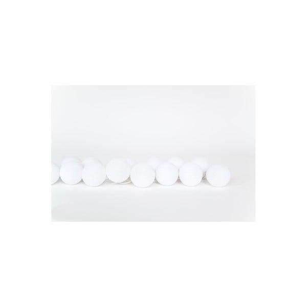 Svetelná reťaz Snowball, 20 guľôčok